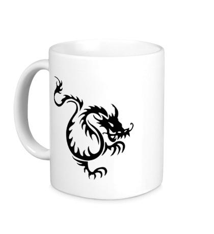 Керамическая кружка Китайский водяной дракон