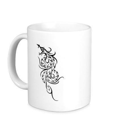 Керамическая кружка Эскиз огненного дракона