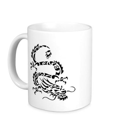 Керамическая кружка Дракон-змей