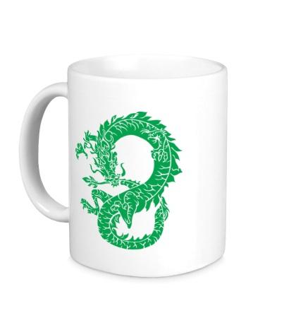 Керамическая кружка Древний китайский дракон