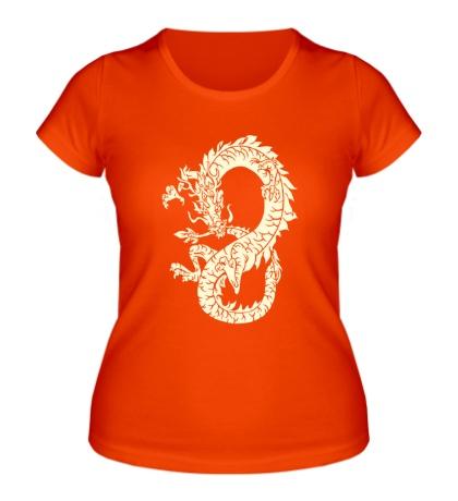 Женская футболка Древний китайский дракон свет