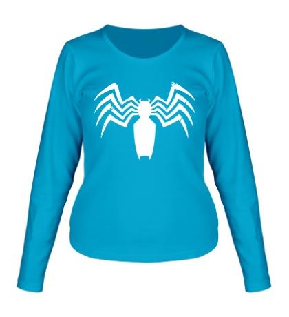 Женский лонгслив Символ Человека-паука