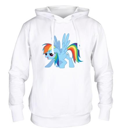 Толстовка с капюшоном Funny Rainbow Dash