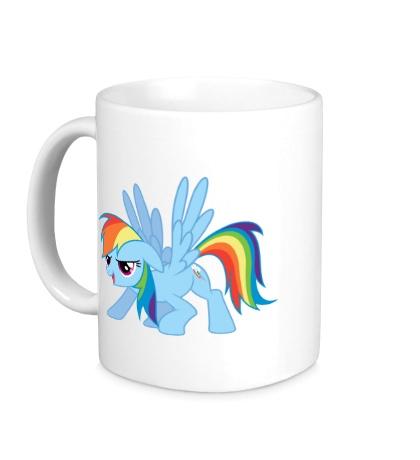 Керамическая кружка Funny Rainbow Dash