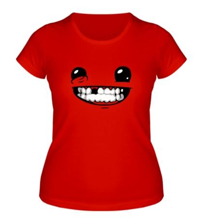 Женская футболка Super Meat Boy