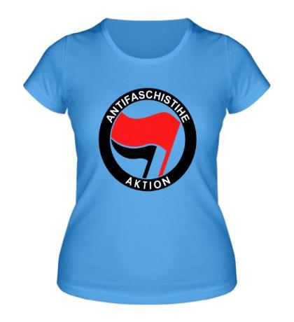 Женская футболка Antifa