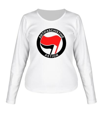 Женский лонгслив Antifa