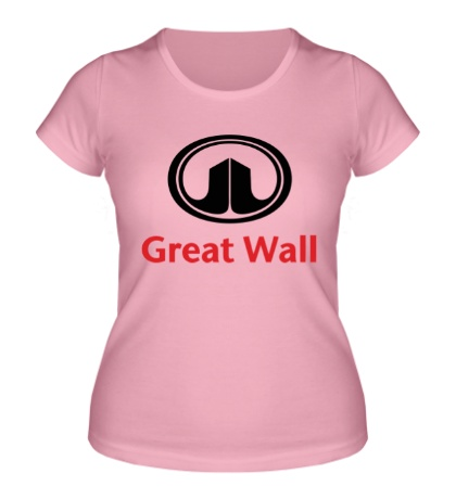 Женская футболка Great Wall logo