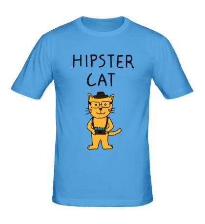 Мужская футболка Hipster Cat