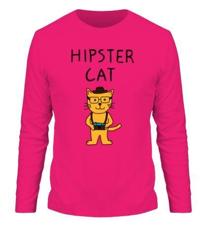Мужской лонгслив Hipster Cat
