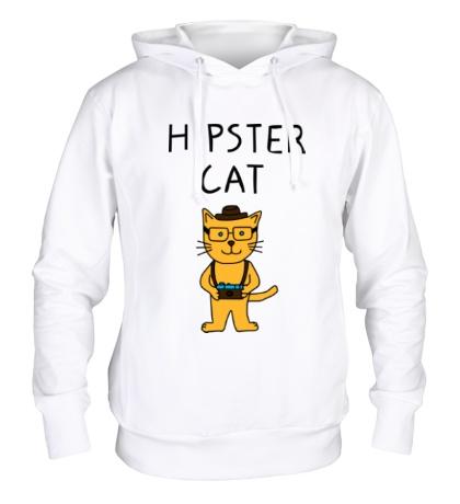 Толстовка с капюшоном Hipster Cat