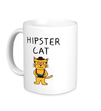 Керамическая кружка Hipster Cat
