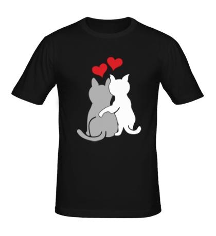 Мужская футболка Влюбленные котята