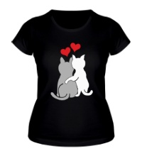 Женская футболка Влюбленные котята