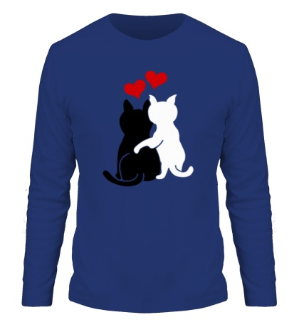 Мужской лонгслив Влюбленные котята
