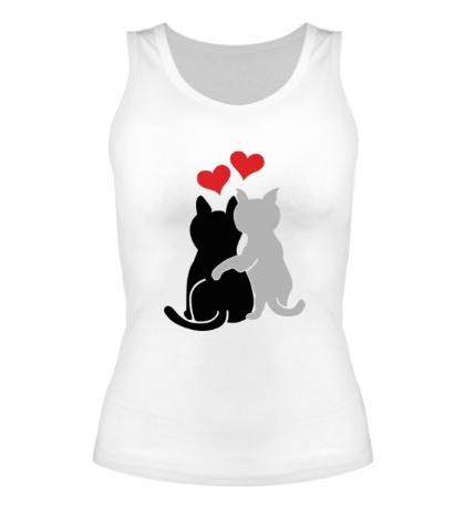 Женская майка Влюбленные котята