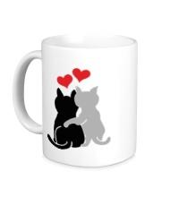 Керамическая кружка Влюбленные котята