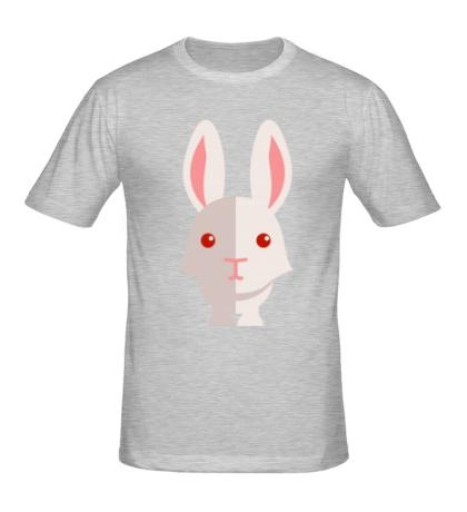 Мужская футболка Зайчик