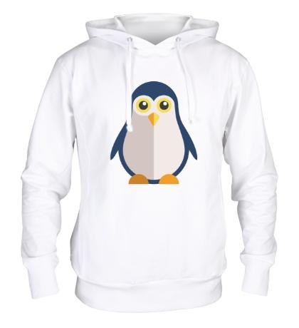 Толстовка с капюшоном Пингвин