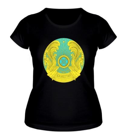 Женская футболка Герб Казахстана