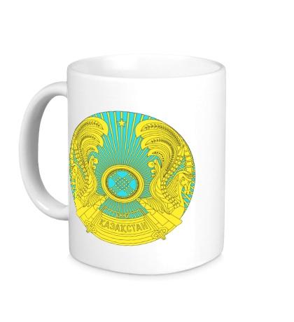 Керамическая кружка Герб Казахстана