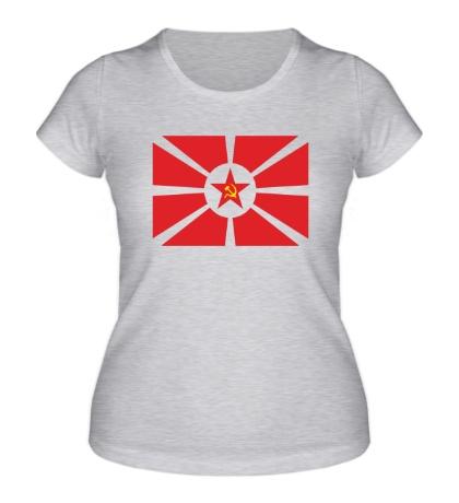 Женская футболка Флаг СССР