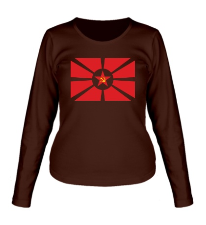 Женский лонгслив Флаг СССР