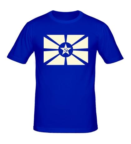 Мужская футболка Светящийся флаг СССР