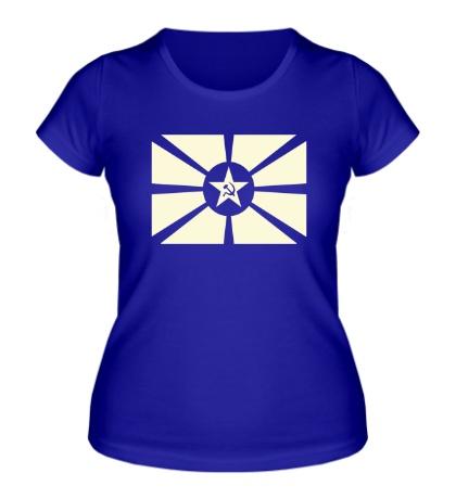 Женская футболка Светящийся флаг СССР