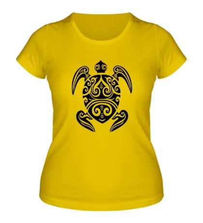 Женская футболка Морская черепаха тату