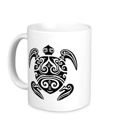 Керамическая кружка Морская черепаха тату