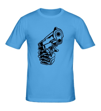 Мужская футболка Рука с пистолетом