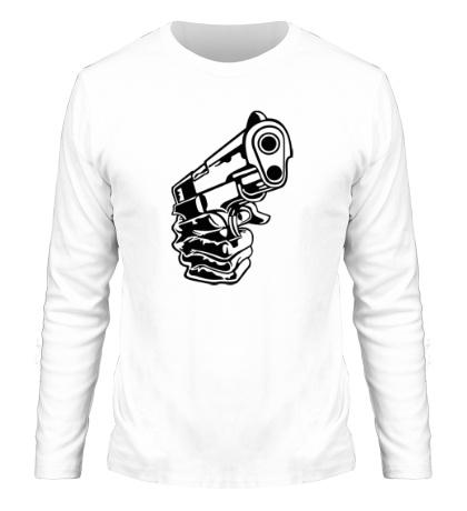 Мужской лонгслив Рука с пистолетом