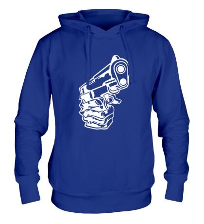 Толстовка с капюшоном Рука с пистолетом