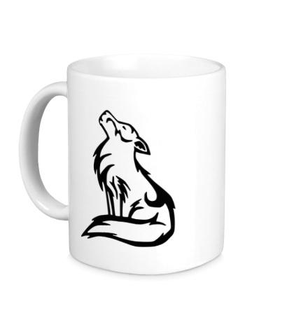 Керамическая кружка Волк