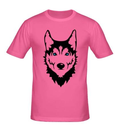 Мужская футболка Собака Хаски