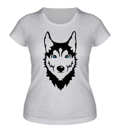Женская футболка Собака Хаски