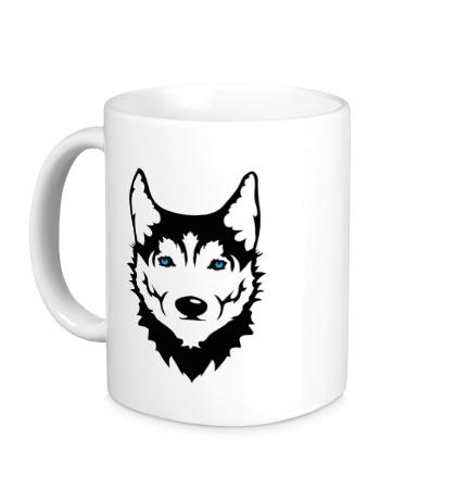 Керамическая кружка Собака Хаски