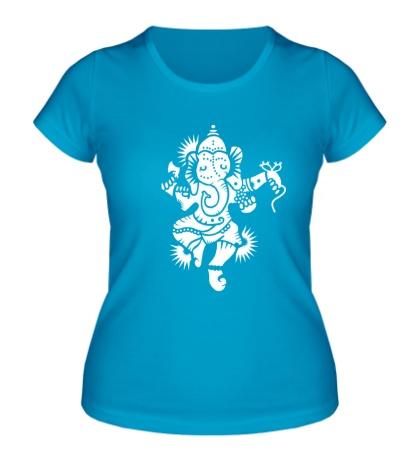 Женская футболка Божество Ганеша