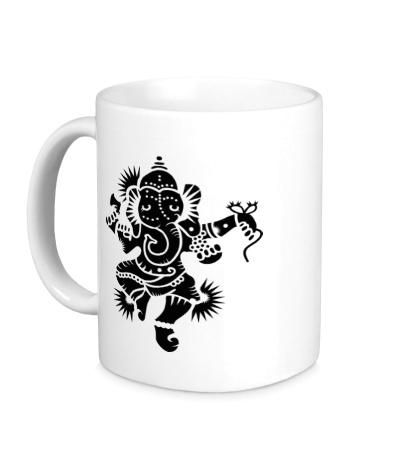 Керамическая кружка Божество Ганеша