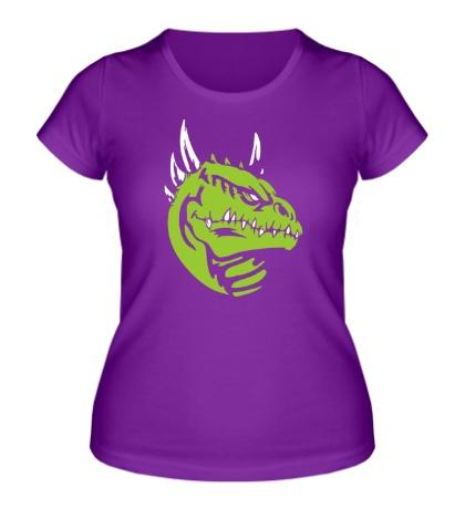 Женская футболка Голова ящера