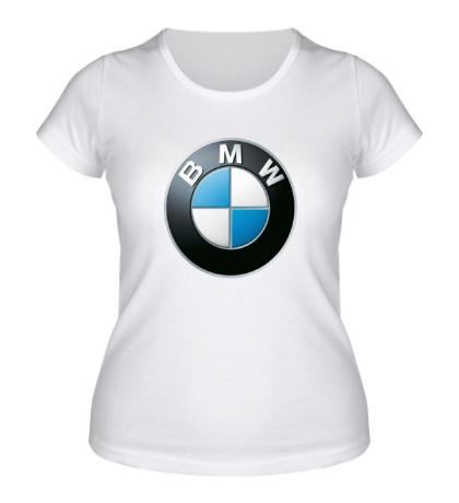 Женская футболка BMW Logo