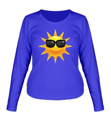 Женский лонгслив Солнце в очках