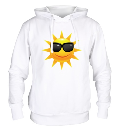 Толстовка с капюшоном Солнце в очках