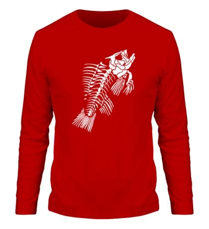 Мужской лонгслив Скелет рыбы
