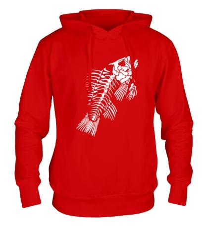 Толстовка с капюшоном Скелет рыбы