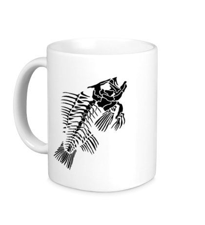 Керамическая кружка Скелет рыбы