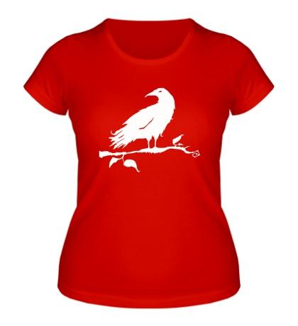 Женская футболка Ворон на дереве