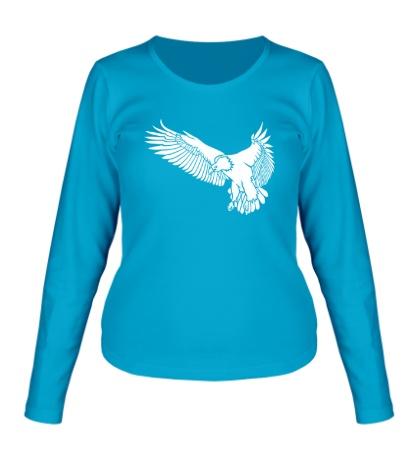 Женский лонгслив «Летящий орел»