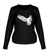 Женский лонгслив Летящий орел